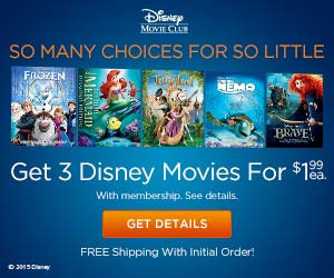 disney movie club code for 5 movies for $1