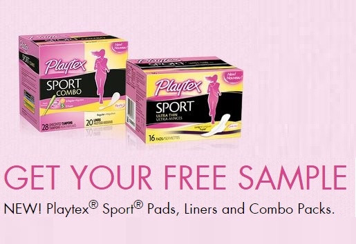 FREE Playtex Sport Pads Liners and Combo Packs