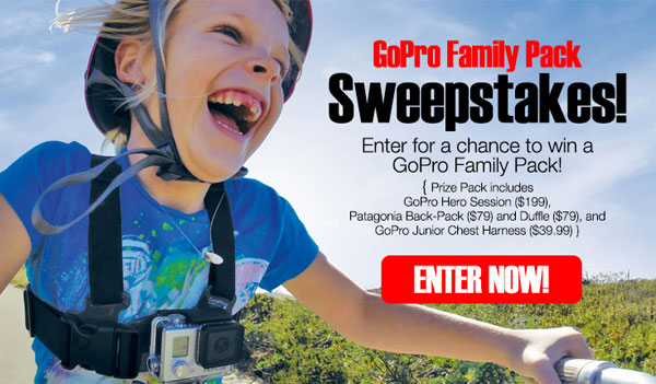 gopro sweepstakes win a gopro family pack best freebies today 7542